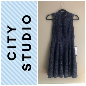 City Studio Sleeveless Flare Dress